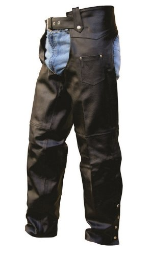Unisex Adult AL2406 Chaps 6X-Large Black by Allstate Leather