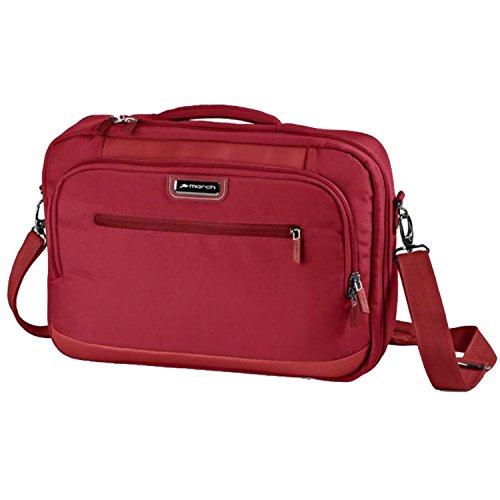 MARCH 15 Business Rucksack Rolling Laptoptasche Messenger Bags 1,1 kg Rot 42x30x10cm NYLON Bordgepäck Kabinen Handgepäck Umhänge Tasche Bowatex