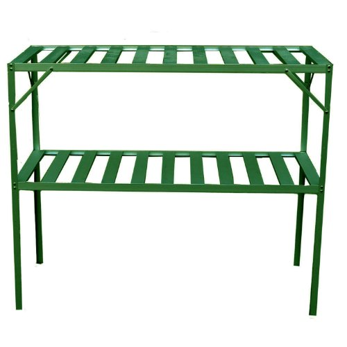 Exaco Trading  GH-GS117 Two Level Free Standing Staging Shelving for Bio-Star Greenhouses by Exaco Trading Company