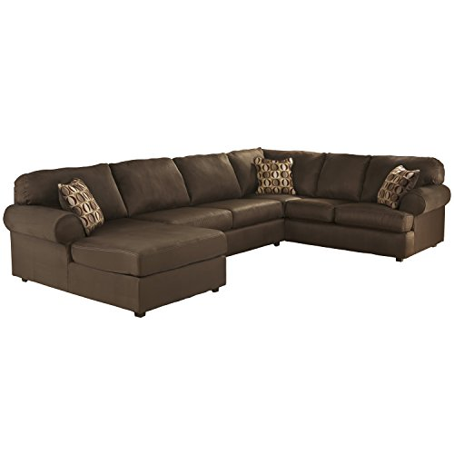 flash furniture signature design by ashley cowan sectional in cafe fabric