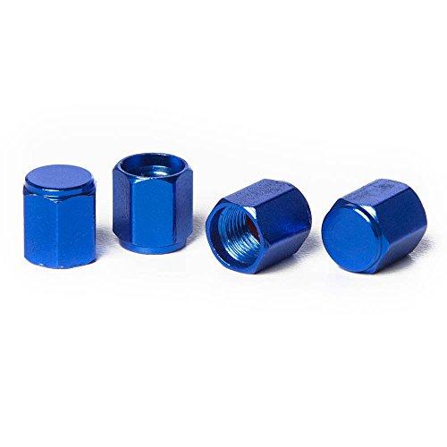 Hex Valve Stem Caps (Circuit Performance VC5 Series Blue Aluminum Valve Stem Caps (Set of 4))