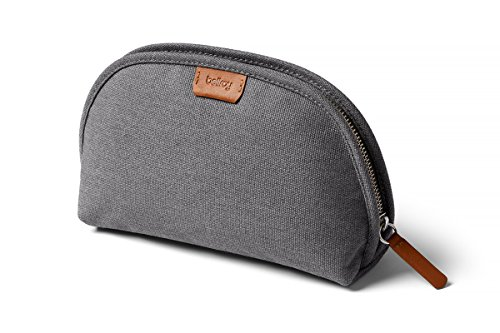 (Bellroy Classic Pouch, everyday kit, woven fabric (pens, cables, cosmetics, personal items) - Mid Grey)