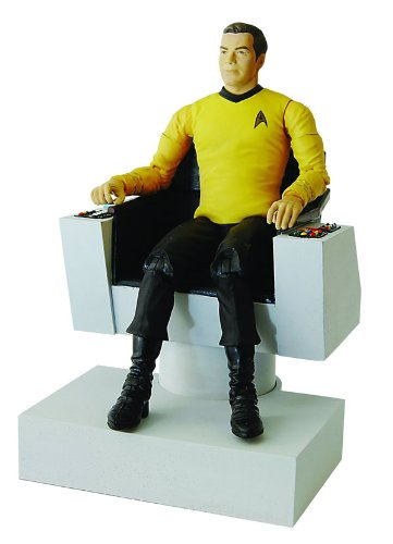 DIAMOND SELECT TOYS Star Trek Deluxe Edition Captain Kirk and Electronic Command Chair Action Figure JUL084821