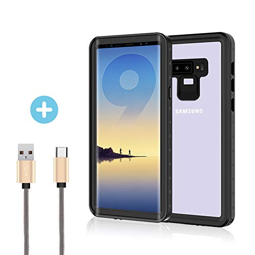 Waterproof Case for Galaxy Note 9 Case - Verhux Underwater Full Body Clear Protective Cover with Military Tested Shockproof Design by Verhux