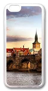 Bridge Landscape TPU Silicone Case Cover for iPhone 6 4.7inch Transparent
