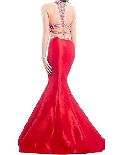 Prom Neck Dresses Gowns Mermaid Party Long Women Black Graduation High Pieces ANGELA s Two wqxH8U4
