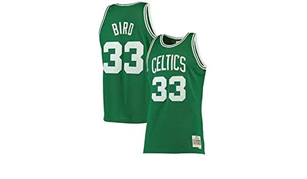 de Malla Transpirable Deporte Jersey Chaleco sin Mangas cl/ásico Bordado GEXING Larry Bird # 33 Boston Celtics