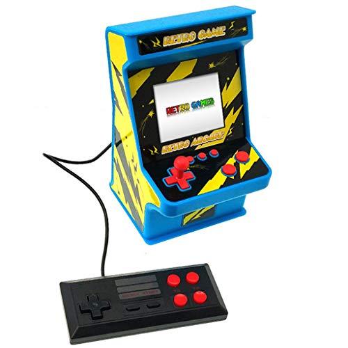 Jonerytime❤️Double 256-In-One Game Arcade Classic Retro Arcade Nostalgic Game Machine (Blue) (Series 1/4 Classic Speakers)