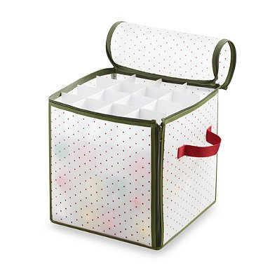 Real Simple Holiday 64-Count Ornament Storage Box