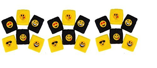24 EMOJI Wristbands ~ Assorted Emoticon 3'' Wristbands ~ Social Media Text Expressions ~ Birthday Party Favor ~ Prize ~ Giveaway Gift Stocking Stuffer ~ Easter Basket ~ Summer Camps ~ ()