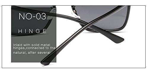 Matte Merriz Gray Black de Soleil Homme Marron Lunettes Cadre TIrvIq6