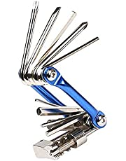 Bike Multifunction Repair Tool Mini Compact Lightweight Portable Foldable Bicycle Multitool, Stainless-Steel Bike Repair Maintenance Tool Kit
