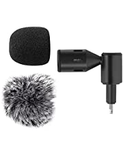Homeriy Microphone with Adjustable Angle Plug and Play Mic External Recording Microphone for Mobile Phones No Battery Required