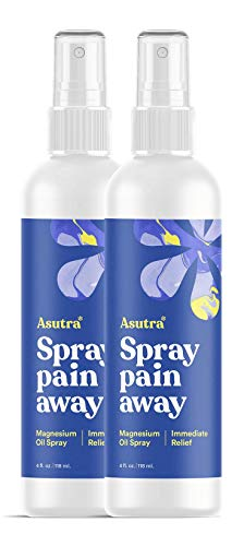 ASUTRA Topical Magnesium Chloride Oil Spray, 8 fl oz| Rapid Absorption | Relieve Muscle Cramps | Fight Joint Pain | Stress, Anxiety, Headache Relief | Pure Zechstein | Promotes Collagen & Energy