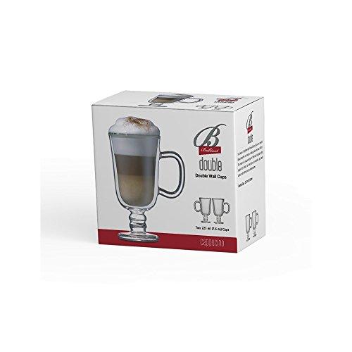Double Wall Irish Coffee Glass Mug Set of 2, by Brilliant (Irish Coffe Cup 7.5oz.) by Brilliant (Image #3)