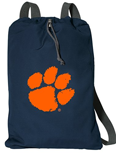 Broad Bay Clemson University Drawstring Backpack RICH COTTON Clemson Tigers Cinch (Clemson String Pack)