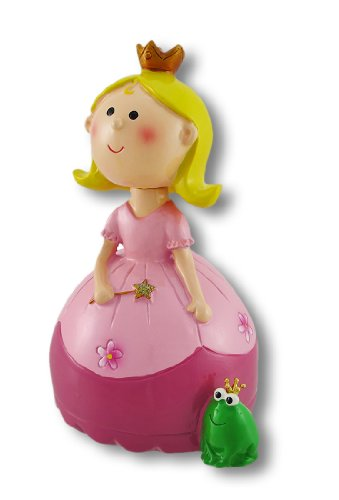 Princess Tiara Piggy Bank - Zeckos A Princess and Her Frog Bobble Head Coin Bank