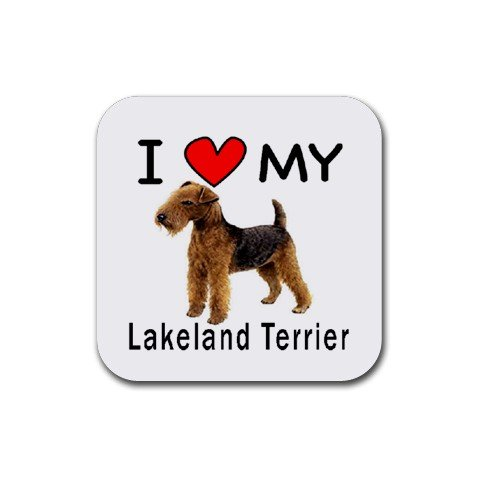 I Love My Lakeland Terrier Square Coasters (Set of ()