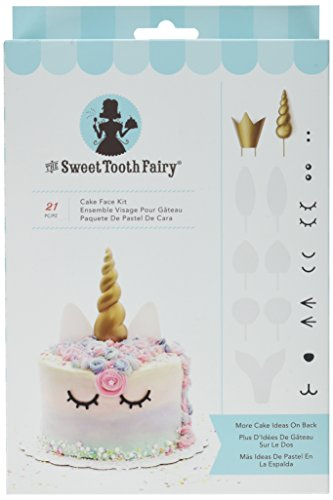 - American Crafts 341983 21 Piece Face Kit Sweet Tooth Fairy Cake Decorating
