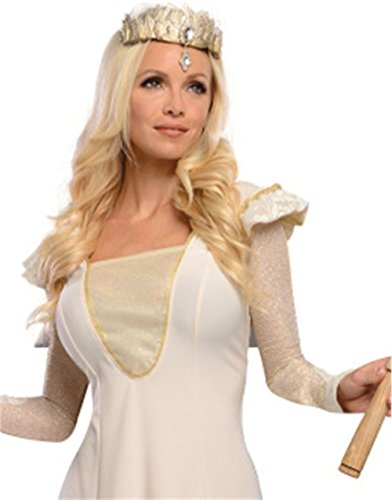 Deluxe Glinda Adult Costumes (Rubie's Costume Disney's Oz The Great and Powerful Glinda costume, Gold, One Size)