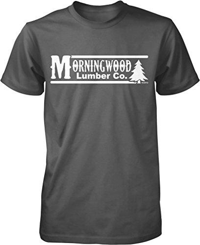 Morning Wood Lumber Co Men's T-shirt, NOFO Clothing Co. L Char