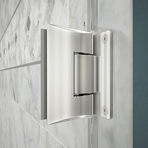 "cheap DreamLine Unidoor Lux 48 in. Width, Frameless Hinged Shower Door, 3/8"" Glass, Chrome Finish"