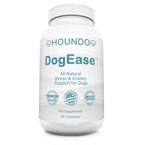DogEase | Ashwagandha, Chamomile, and L-Theanine | All-Natural Stress and Anxiety Relief for for Dogs | Dog Calming Supplement | Helps Lower Cortisol Levels | Made in the U.S.A. | 90 Count