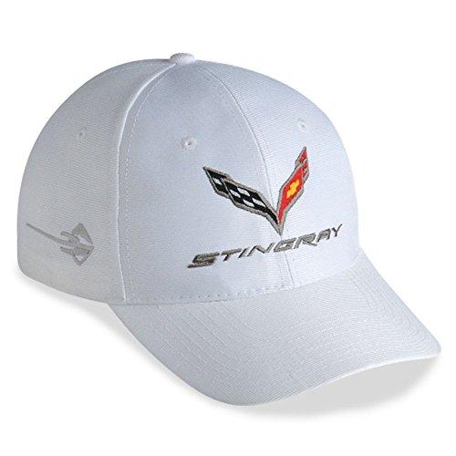 West Coast Corvette - C7 Corvette Embroidered Performance Hat (White)