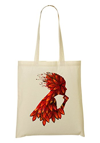 Beautiful Autumn Leave Girl Bolso De Mano Bolsa De La Compra