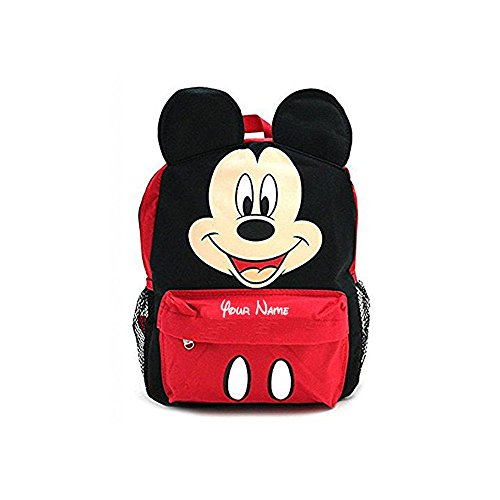 Disney Personalized Books - Disney Personalized Mickey Mouse Face Backpack Book Bag - 16 Inches