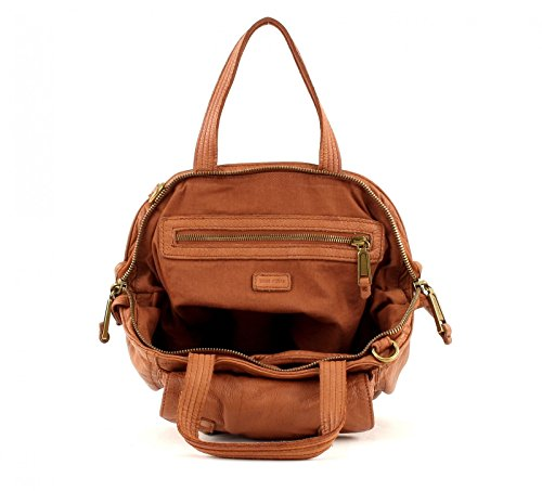 Marc O´Polo Washed Crossbody Bucket Bag L Cognac