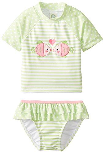 Little Me Baby-Girls Infant Fish 2 Piece Rashguard, Green/Multi, 24 Months