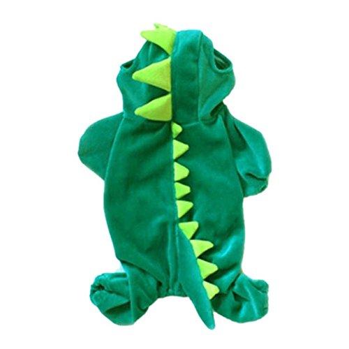 Fenta Pet Dogs Puppy Christmas Pajamas Clothing Dinosaur
