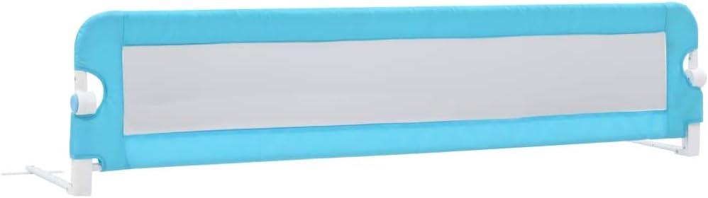 vidaXL Sponde Letto per Bambini Pieghevoli Barriera di Sicurezza per la Nanna Grigio 102x42cm in Rete in Poliestere Tubi in Metallo
