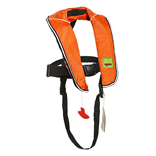 Eyson Inflatable Life Jacket Inflatable Life Vest for Child Classic Automatic (Orange) ()
