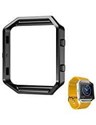 Fitbit Blaze Replacement Frame, TOOPOOT Stainless Steel Metal Frame Watch Holder For Fitbit Blaze Smart Watch (black)