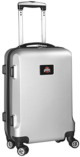 NCAA Ohio State Buckeyes Carry-On Hardcase Spinner, Silver by Denco