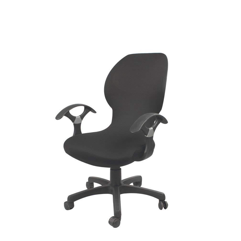 Deisy Dee Computer Office Chair Covers Pure Color Universal Chair Cover Stretch Rotating Chair Slipcovers Cover C098