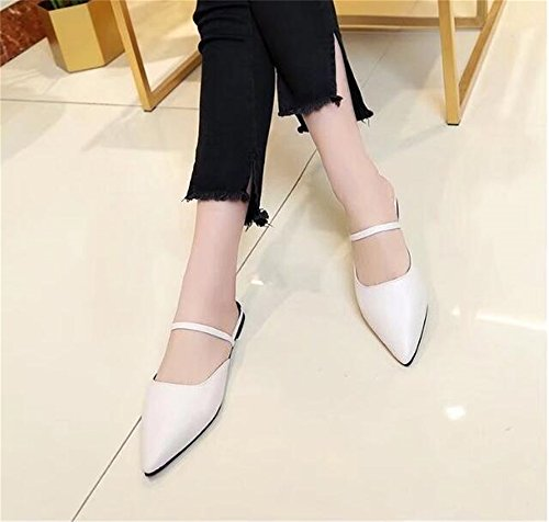 On White Slide Slippers Slip Women's BeautyOriginal Mule Loafers Backless BnwqRI8SxH