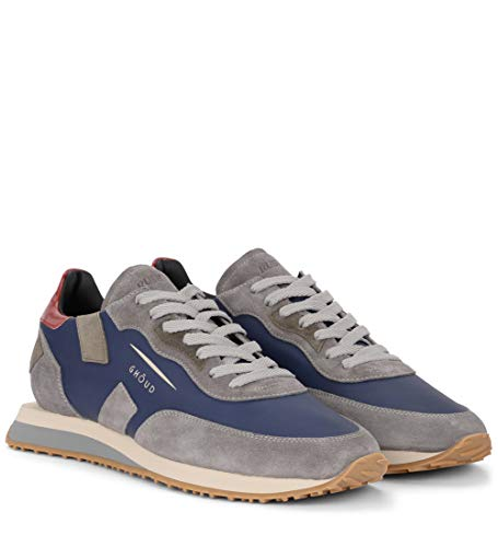 Pelle Sneaker Ghoud Blu in Blu e Rush Grigio Suede q6xnfz