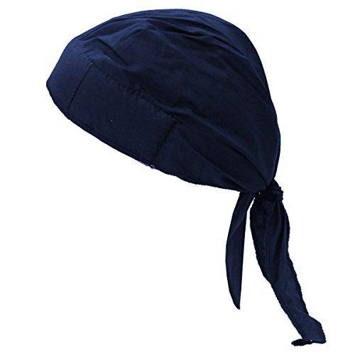 f Nougies Tie Hat Doo Rag, Navy (Tuff Nougies Doo Rag)