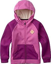Burton Girls Girls Mini Bonded Full-Zip Hoodie, Super Pink, 3T