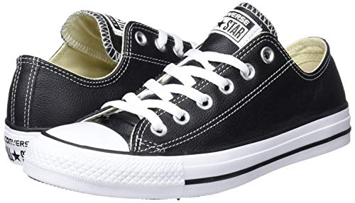 Taylor Chuck Sneaker 001 Nero Adulto Unisex Lea Converse black Ox Core w65xf77qC