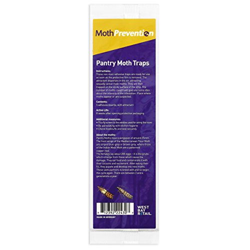 PANTRY MOTH TRAPS 15-Pack from Moth-Prevention – Best Catch-Rate for Food Moths on the Market!
