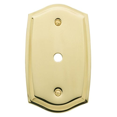 Baldwin 4769 Colonial Style Solid Brass Cable Cover Switchplate, Polished Brass - Cover Solid Brass Switchplate