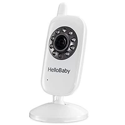 HelloBaby Wireless Video Baby monitor Security Camera with 2-way Talk & Night Vision and Temperature Monitor