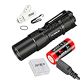 Klarus XT1C CREE XP-L HD V6 LED 1000 Lumens Compact Dual-Switch Tactical Flashlight Pocket Sized Rechargeable 16340 Flashlight 2018 Upgraded