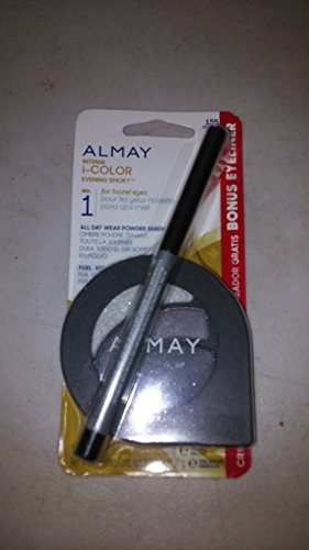 ALMAY INTENSE I-COLOR EVENING SMOKY FOR HAZEL EYES WITH BONUS EYELINER #155
