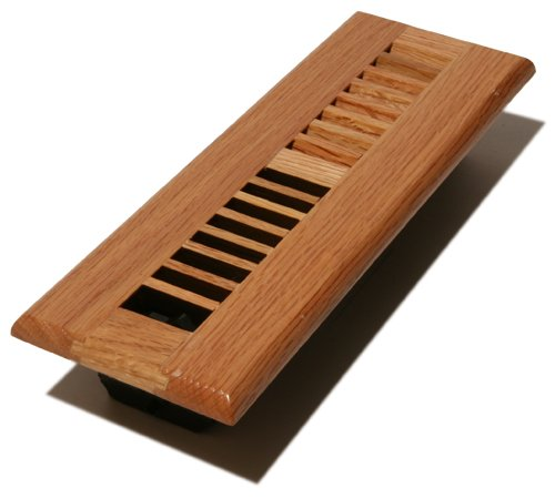 Decor grates wl210 n wood louver floor register natural for 6x12 wood floor register