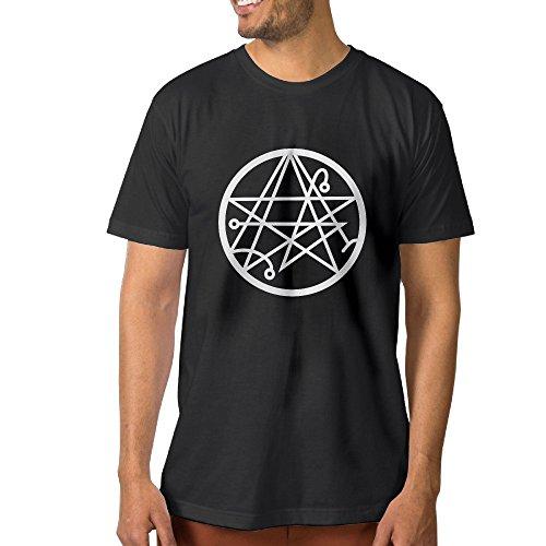 Price comparison product image Necronomicon Logo Star Men's Casual T-shirts XL Black